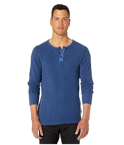 G-Star Korpaz Granddad Kylio Waffle Long Sleeve T-Shirt (Imperial Blue Heather) Men