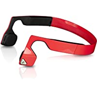 Bluez 2S Wireless Bone Conduction Bluetooth Headphones, Red, (AS500SR)
