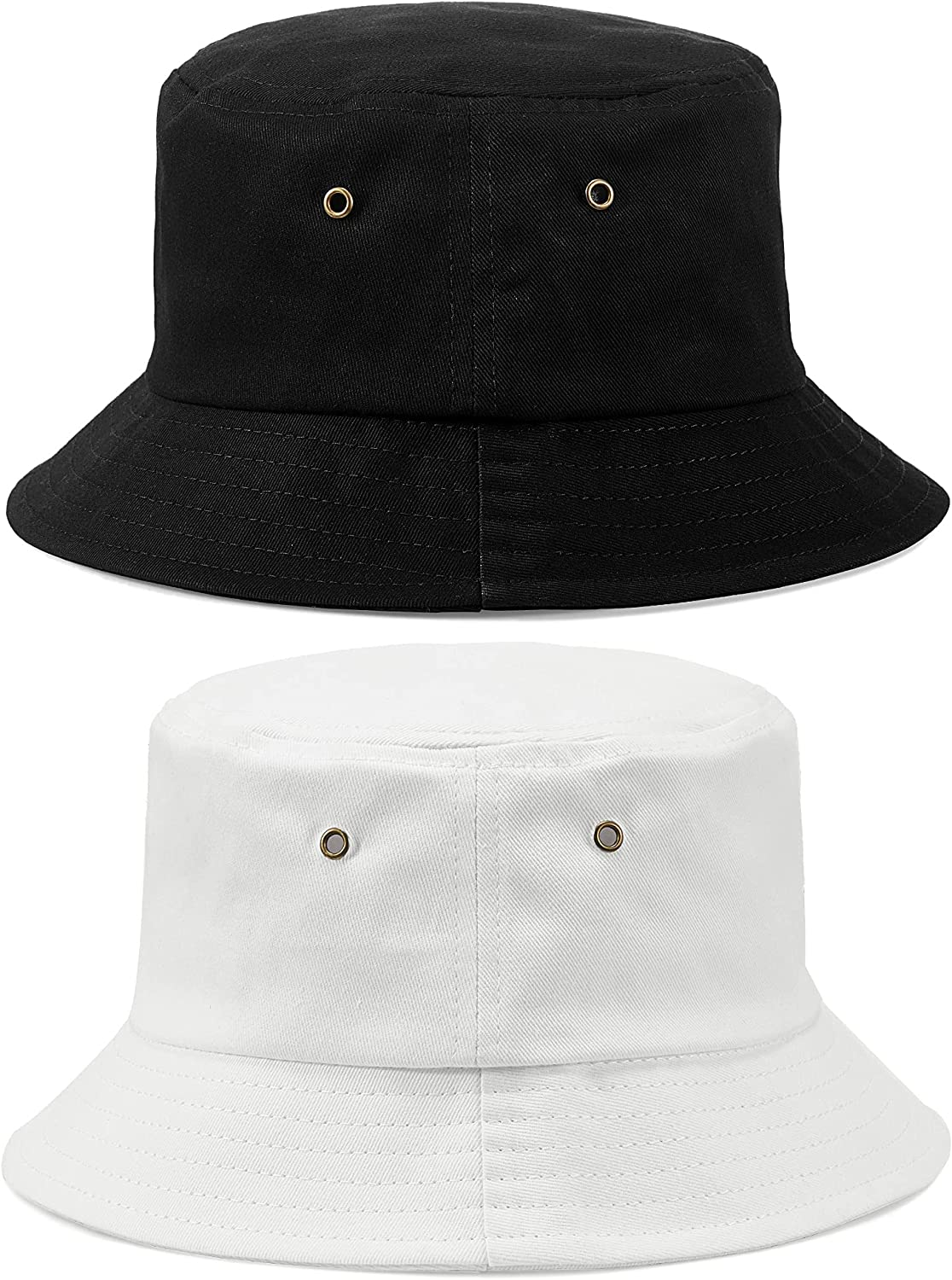 2 Pieces Youth Kid Bucket Hat Travel Bucket Hat Summer Beach Casual Outdoor Fishing Hiking Hat for Boy Girl