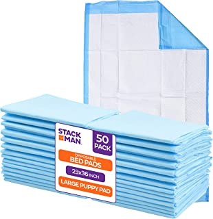 Chucks Pads Disposable [50-Pack] Underpads 23x36 Incontinence Chux Pads Absorbent Fluff Protective Bed Pads, Pee Pads for ...