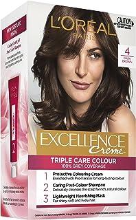 L'Oréal Paris Excellence Creme, 4 Dark Brown (100 Percent Grey Coverage)