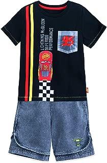 Disney Lightning McQueen Shirt and Shorts Set for Boys Black