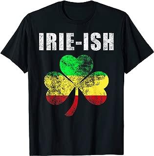 Jamaican St. Patrick's Day Tee Irie-Ish Rasta Shamrock