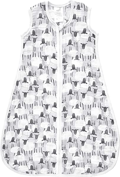 Aden By Aden Anais Classic Sleeping Bag 100 Cotton Muslin Wearable Baby Blanket Medium 6 12 Months Pasture Sheep