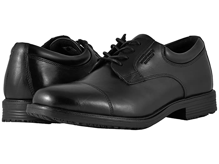 Rockport  Essential Details Waterproof Cap Toe (Black) Mens Lace Up Cap Toe Shoes