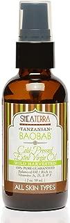 Shea Terra Organics Tanzanian Baobab Cold Pressed Extra Virgin Oil | Hair Conditioner, Anti-Aging, Vitamin E Oil | All Skin Types - 2 oz