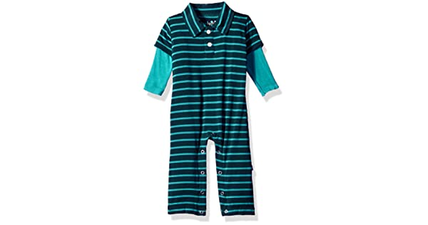 Kickee Pants Baby Boys Print L//S Polo Romper Prd-kplbr606-bts