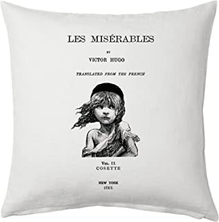 Universal Zone Les Misérables by Victor Hugo Pillow Cover, Book pillow cover.