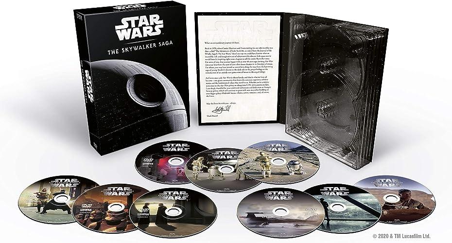 Star wars cofanetto la saga di skywalker completa 4k (limited edition)collezione di tutti e i 9 film della sag
