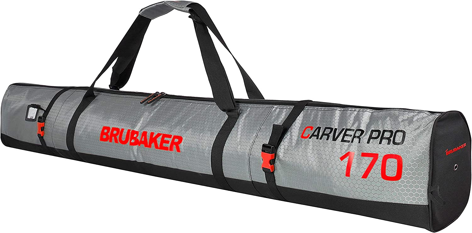 BRUBAKER CarverTec Pro Ski Bag for SEAL limited product 1 - of Skis and Pair Spring new work one after another Si Poles