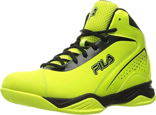 Fila Hommes's Contingent Basketball chaussures, Safety jaune noir, 10 M US