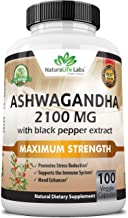 Organic Ashwagandha 2,100 mg - 100 Vegan Capsules Pure Organic Ashwagandha Powder and Root Extract - Natural Anxiety Relie...