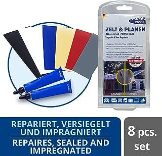 123Repair Tent & Tarpaulin Repair kit for Cuts Holes, Rips and Tears | Seam Sealer | Leather Patch | Tent Repair Kit |Vinyl Repair | Waterproof Sealant | Tent Patch Kit| Awning Repair Tape