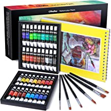 Watercolour Paint Set With Watercolour Paper and Brushes, Ohuhu All in One 36 Water Colors Art Watercolors Painting Kit fo...