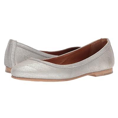Frye Carson Ballet (Silver Metallic) Women