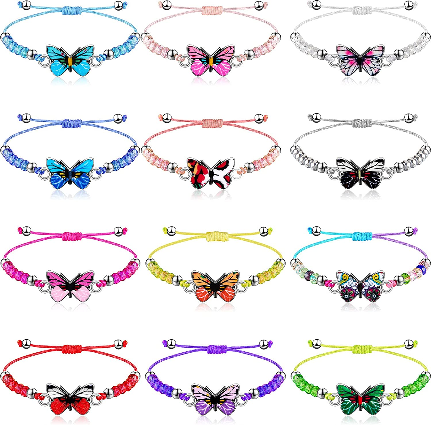 24 Pieces Butterfly Max 79% OFF Beads Crystal Bead Ranking TOP15 Bracelet Woven