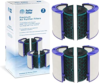 Fette Filter - 2 Pack Air Purifier HEPA Filter Compatible with Dyson TP04/HP04/DP04 Pure Cool Air Purifier and Tower Fan Models.Two Stage 360° Filter System Value Pack of 2. Part # 969048-01