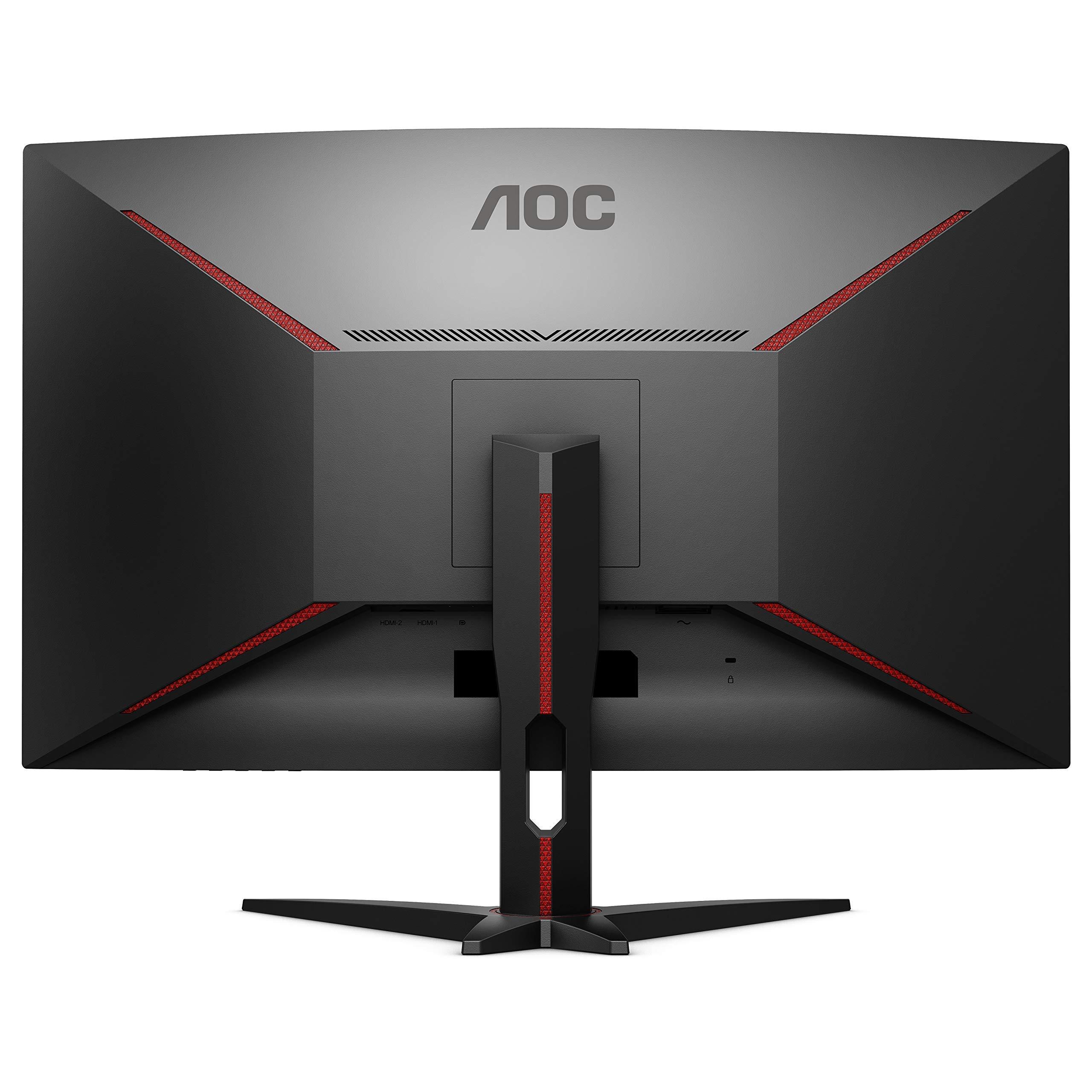 AOC CQ32G1 - 32 Inch QHD Curved Gaming Monitor, 144Hz, 1ms, VA, AMD FreeSync Premium, FlickerFree (2560x1440 @144Hz, 300cd/m², HDMI 1.4 x 1, HDMI 2.0 x 1, DisplayPort 1.2 x 1)