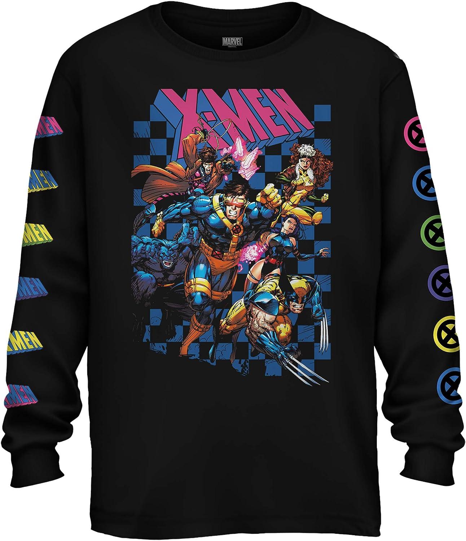Marvel Graphic Tees Mens Shirts - Atlanta Mall X-Men At the price of surprise Black Sleeve Tee Sh Long
