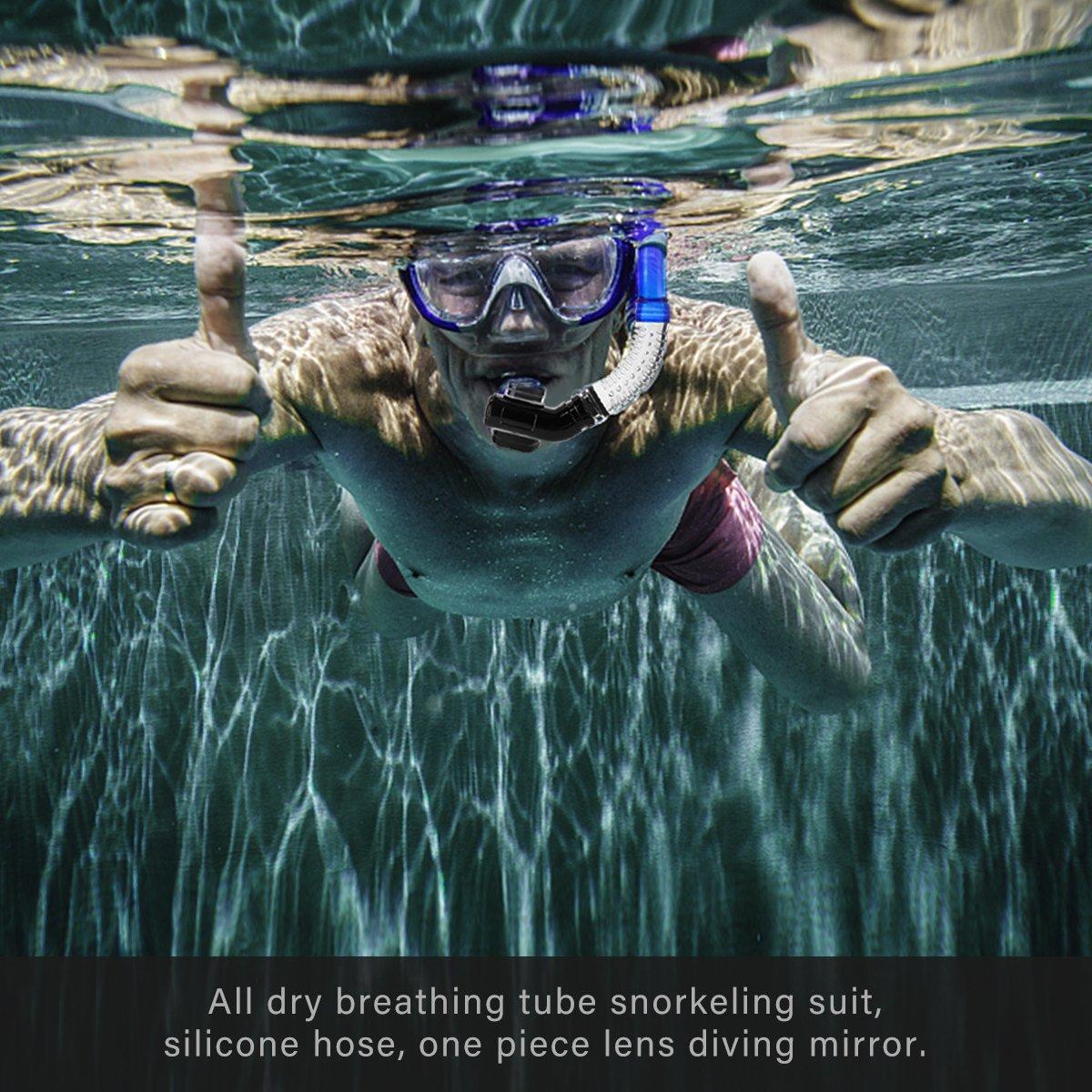 CAMTOA Conjunto de snorkel , máscara de snorkel con máscara ...