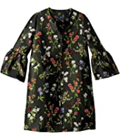Oscar de la Renta Childrenswear - Floral Ruffle Sleeve Button Up Jacket (Big Kids)