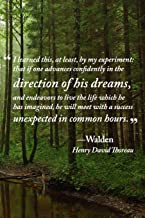 "Direction of His Dreams Journal: Quotation from ""Walden"" by Henry David Thoreau"