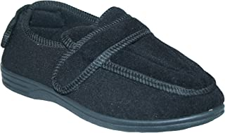 Footloose.Shoes Mens Diabetic Orthopaedic Comfort Luxury Slippers Shoes Wide FIT Adjustable Strap Size UK 7-14