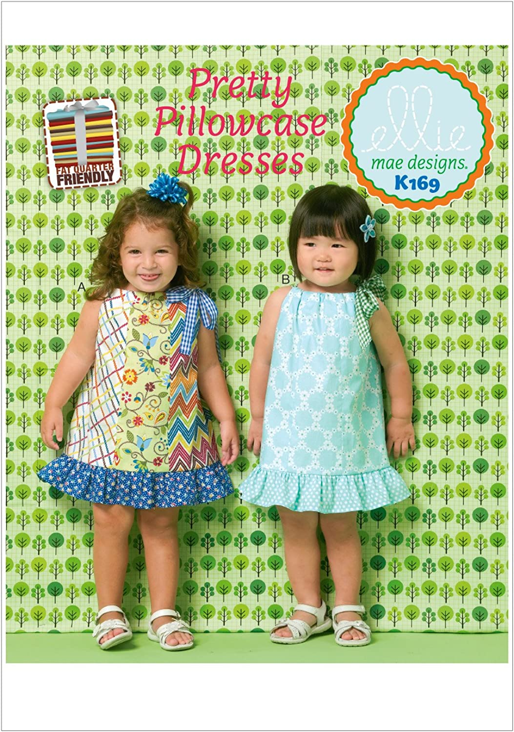 KWIKSEW PATTERNS K0169 Toddlers' Dresses, All Sizes
