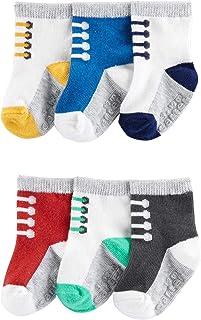 Baby Boy's 6-pack Socks Booties
