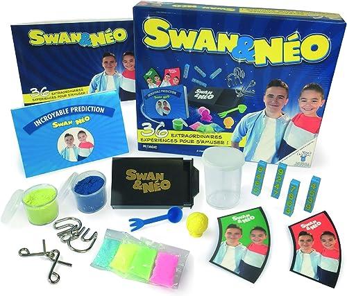Megagic- Coffret Swan ET Neo 36 Experiences Science, NSA, Bleu ET Jaune