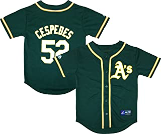 Yoenis Céspedes Oakland Athletics Green Youth Authentic Home Jersey