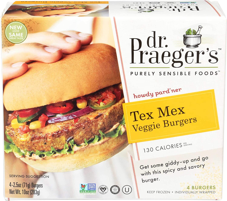 Dr. Praegers Tex Mex Veggie Burger per 6 Ounce -- 10 case. Choice Recommended