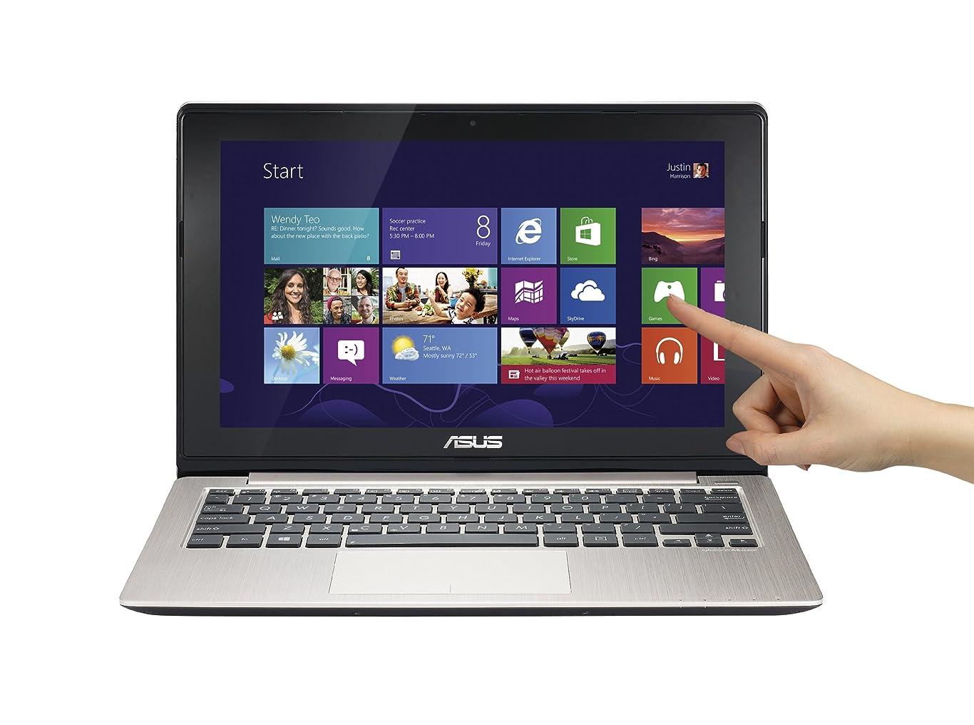 森仕えるゆるいエイスース ノートパソコン ASUS VivoBook X202E-DH31T 11.6-Inch Touch Laptop 【並行輸入品】 (Silver)