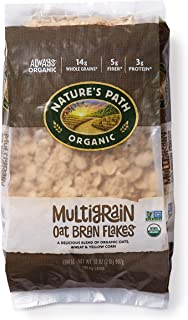 Nature's Path Multigrain Oat Bran Flakes Cereal, Healthy, Organic, 32 Ounce (Pack of 6)
