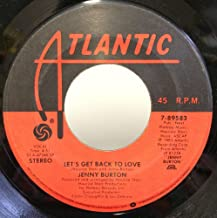 Jenny Burton Bad Habits / Let's Get Back To Love 45 rpm single