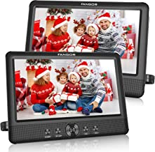 FANGOR 10.5 Dual DVD Player for Car Portable Headrest Video Players with 2 Mounting..