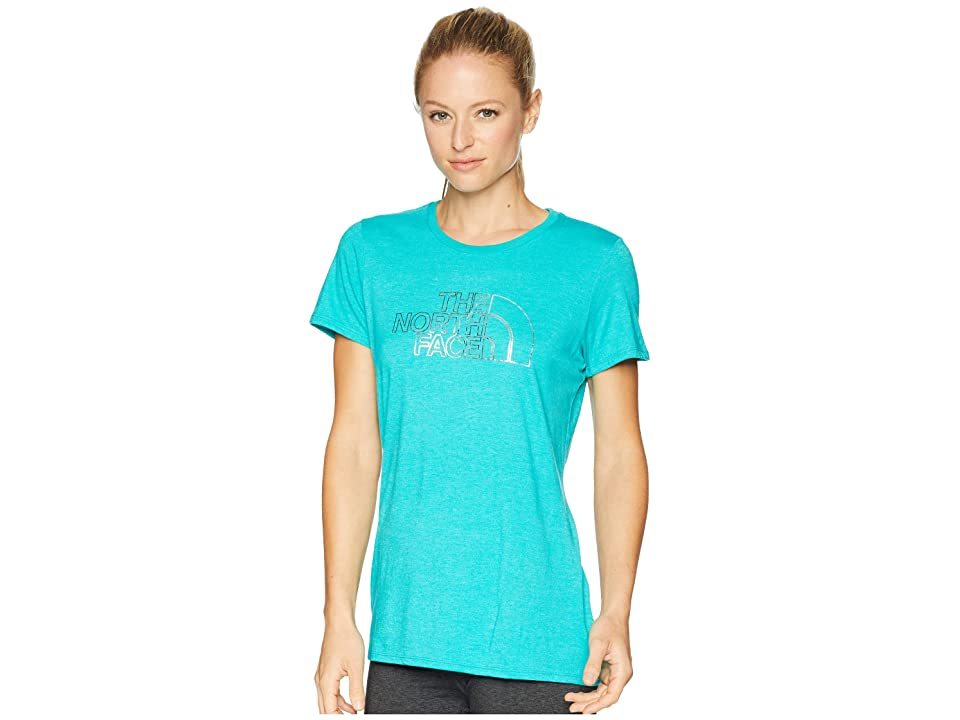 The North Face 1/2 Dome Tri-Blend Crew Tee (Kokomo Green Heather/Silver Foil) Women