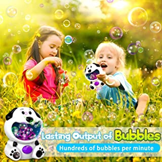 Yealsha Bubble Machine Hippopotamus Bubble Blower, Bubble Machine for Kids Toddlers Boys Girls Baby Bath Toys Indoor Outdoor Automatic Bubble Maker Easy to Use 2 AA Batteries Needed