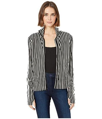 KAMALIKULTURE by Norma Kamali Side Stripe Turtle Jacket (Uneven Stripe/Engineered Stripe) Women