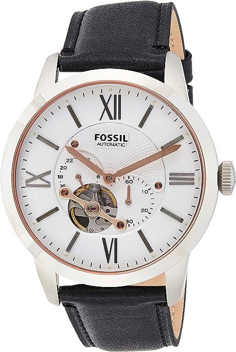Orologio fossil analogico automatico uomo con cinturino in acciaio inossidabile me3105 ME3104