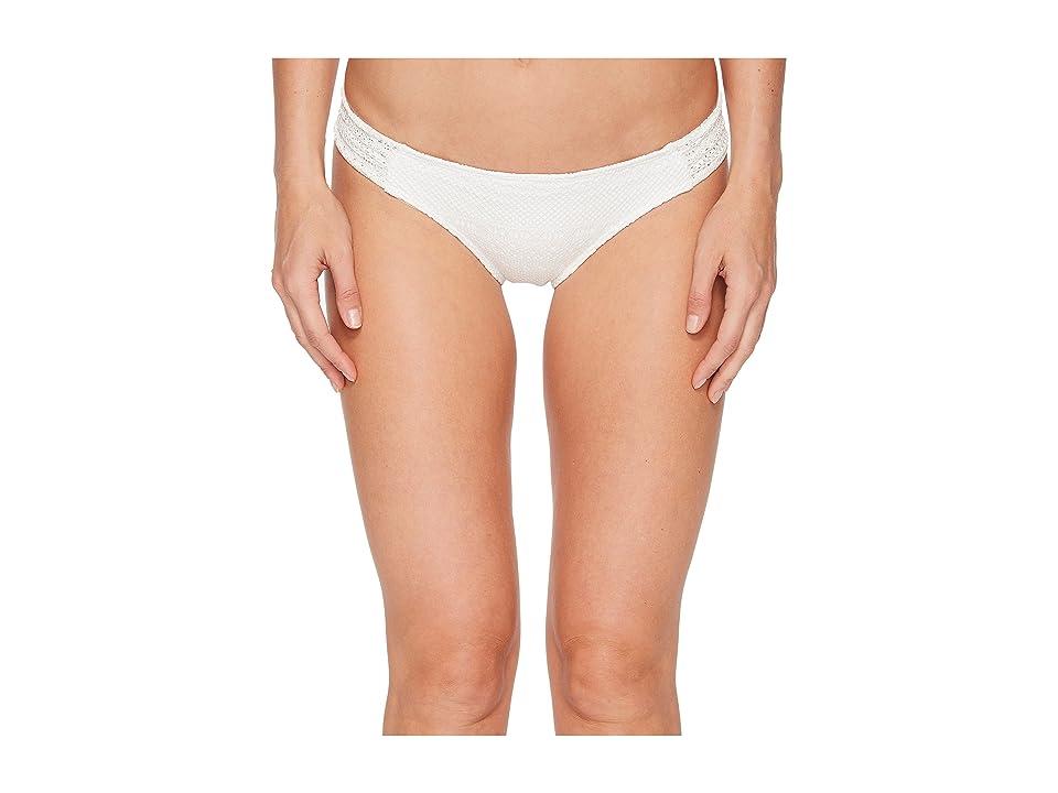 Roxy Surf Memory Scooter Bikini Bottom (Marshmallow) Women