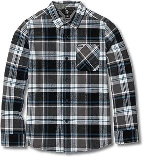 Volcom Boys' Big Caden Plaid Long Sleeve Flannel Button Up Shirt