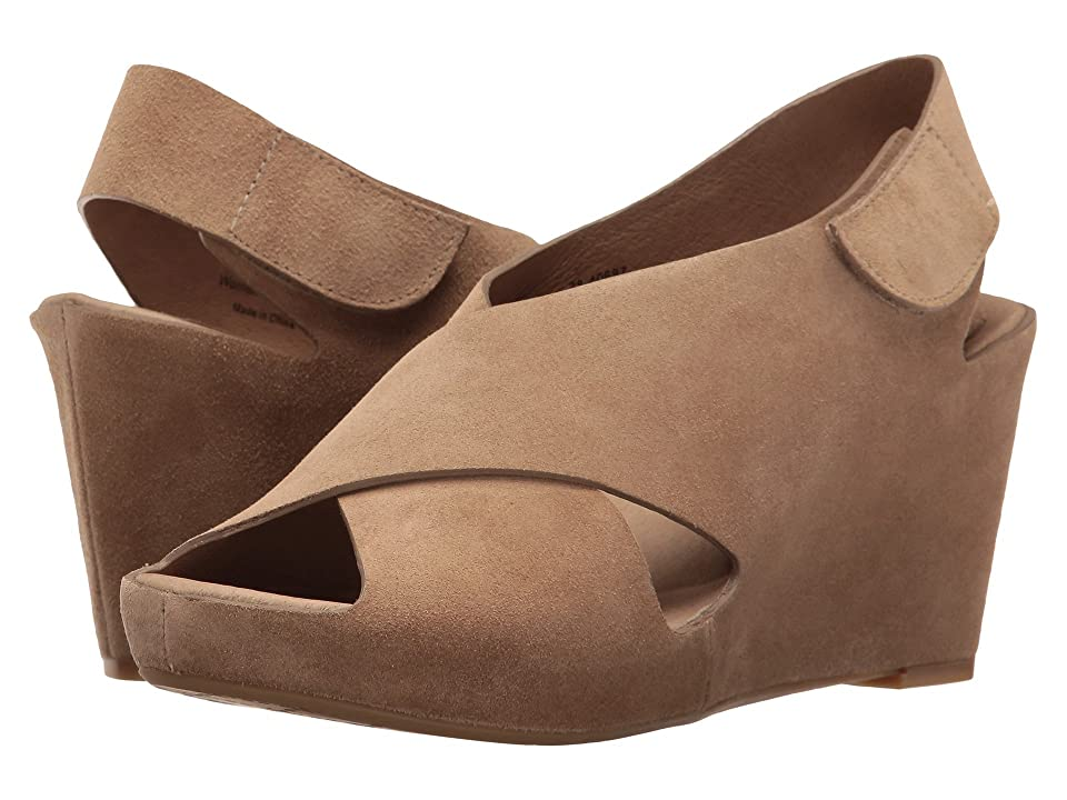 Johnston & Murphy Tori Cross Band Wedge (Taupe Suede) Women
