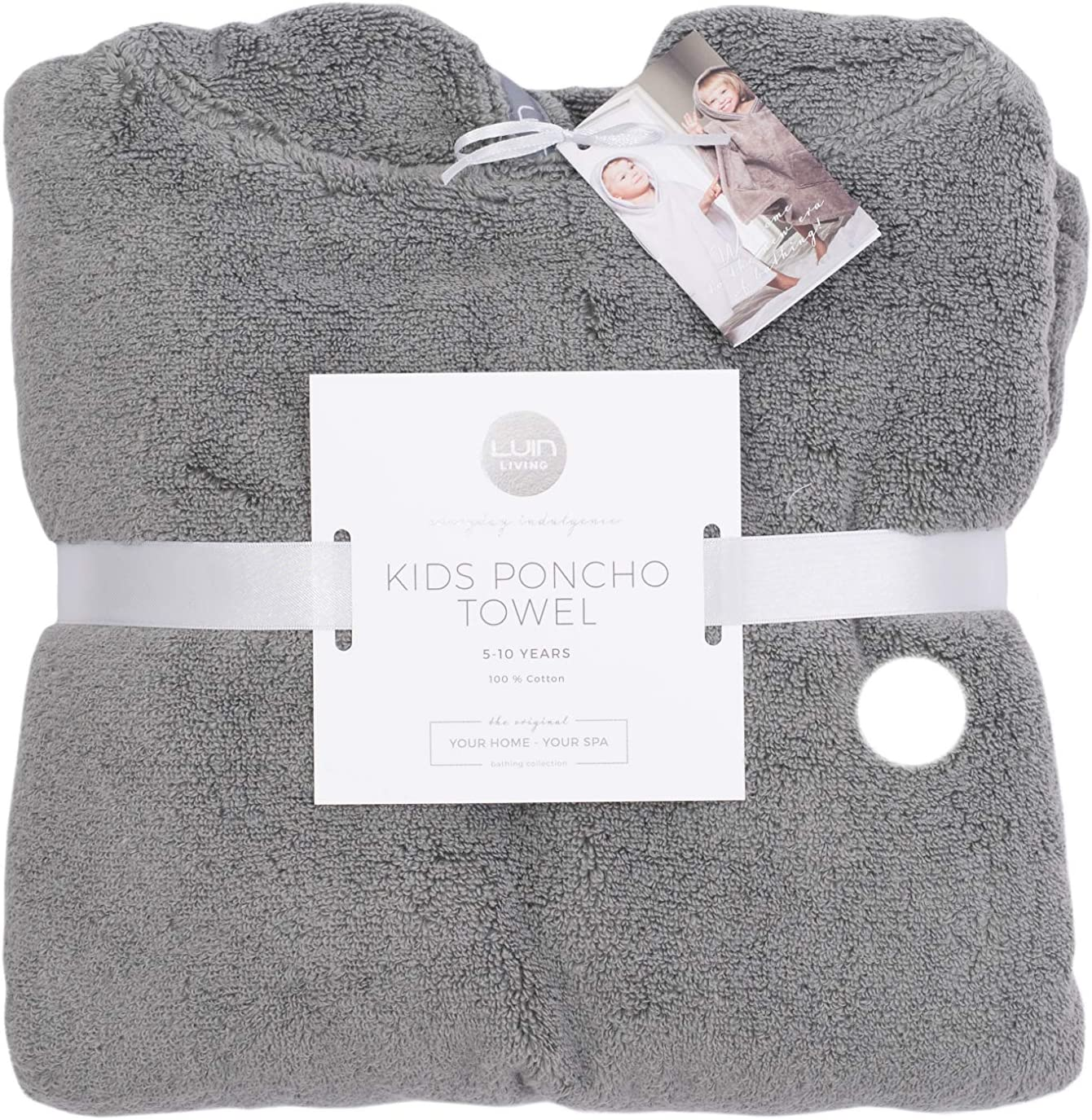 Granite 1-5 yrs Luin Living Luxury Soft Poncho Towel for Girls and Boys