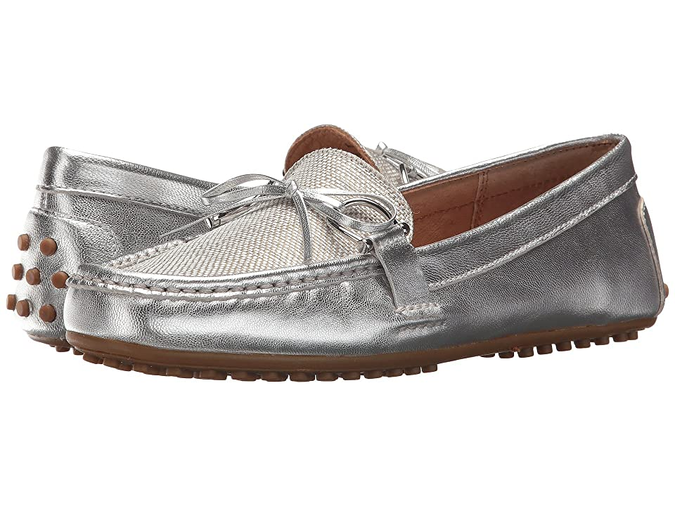 LAUREN Ralph Lauren Briley Moccasin Loafer (RL Silver/Silver Metallic Leather/Coated Metallic Straw) Women