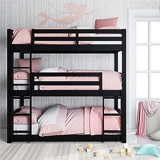 Dorel Living Phoenix Floor, Black Triple Bunk Bed