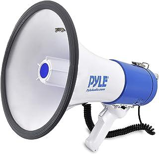 Portable Megaphone Speaker PA Bullhorn – Built-in Siren, 50W Adjustable Volume..