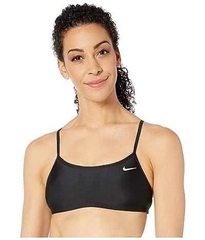 Nike Solid Racerback Bikini Top (Black) Women