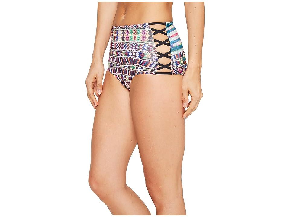 Roxy Cuba Cuba High Waist Bikini Bottom (Salsa Super Duper Legit) Women