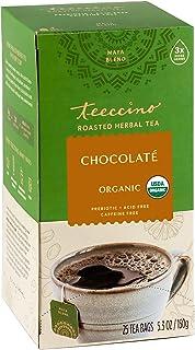 Teeccino Herbal Tea – Chocolaté – Rich & Roasted Herbal Tea That's Caffeine Free & Prebiotic for Natural Energy, 25 Tea Bags